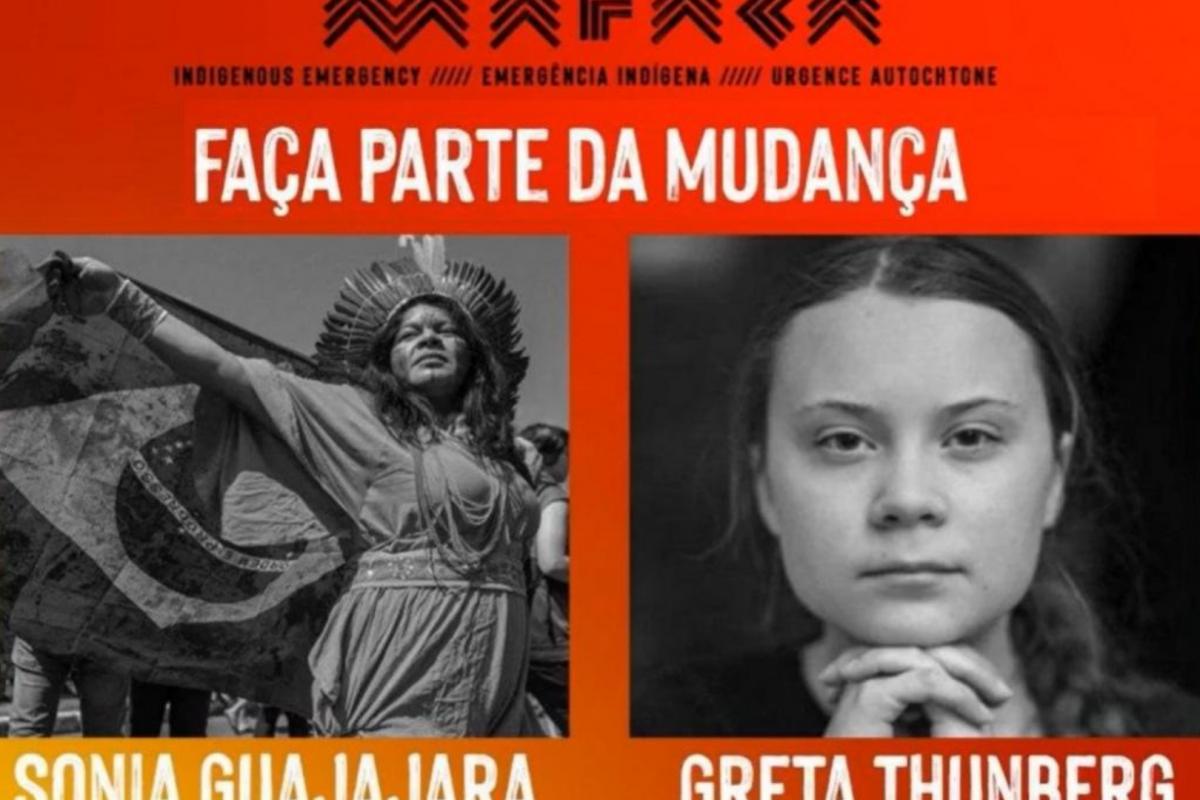 Greta Thunberg e Sonia Guajajara apelam por pressão global a favor dos povos indígenas e da Amazônia
