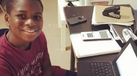 Garoto negro, Caleb Anderson é o mais jovem a cursar uma faculdade de engenharia aeroespacial
