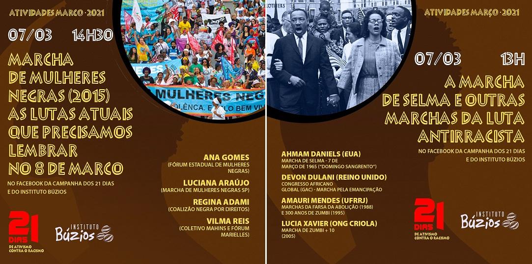 21 Dias de Ativismo Contra o Racismo 2021 – Programação